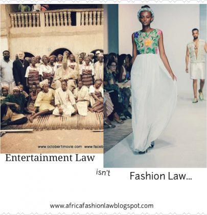 Entertainment Law isn't Fashion Law…
